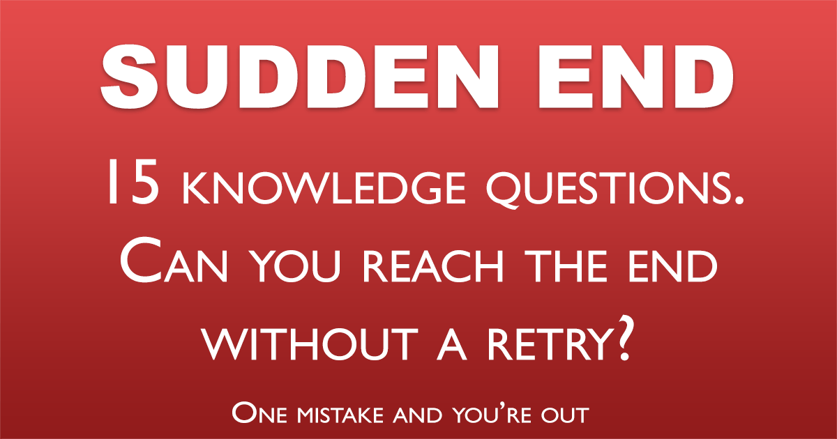Sudden End Trivia