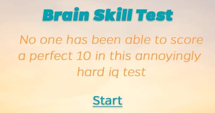 Brain Skill Test