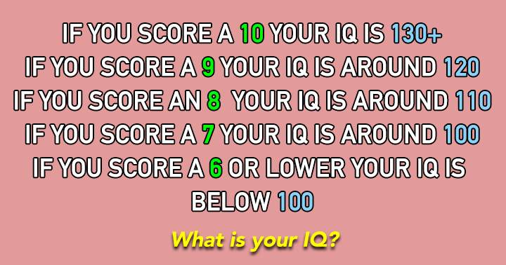 Figure out what your IQ is!