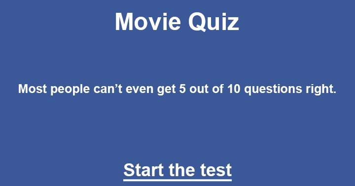 The ultimate movie quiz